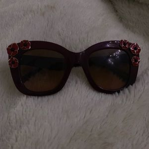 red floral kate spade sunglasses